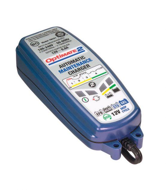 Automatická nabíjačka akumulátorov, mikroprocesorom riadená s diagnostikou a zároveň optimizér akumulátorov – ideálna pre 12V motocyklové akumulátory. Je určená pre akumulátory od 3Ah do 96Ah.