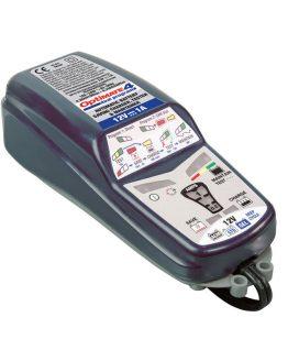 OptiMate 4 DUAL je automatická, mikroprocesorom riadená nabíjačka s diagnostikou a optimizér akumulátorov – ideálna pre 12V motocyklové akumulátory.