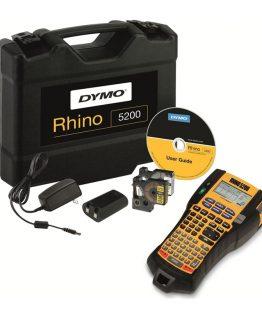 Kufríková sada s profesionálnym štítkovačom Rhino Pro 5200 a dvomi náhradnými kazetami, batériovým blokom a adaptérom.
