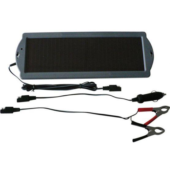 Solárny dobíjač akumulátorov pre malé benzínové motory s výkonom 1,5Wp.