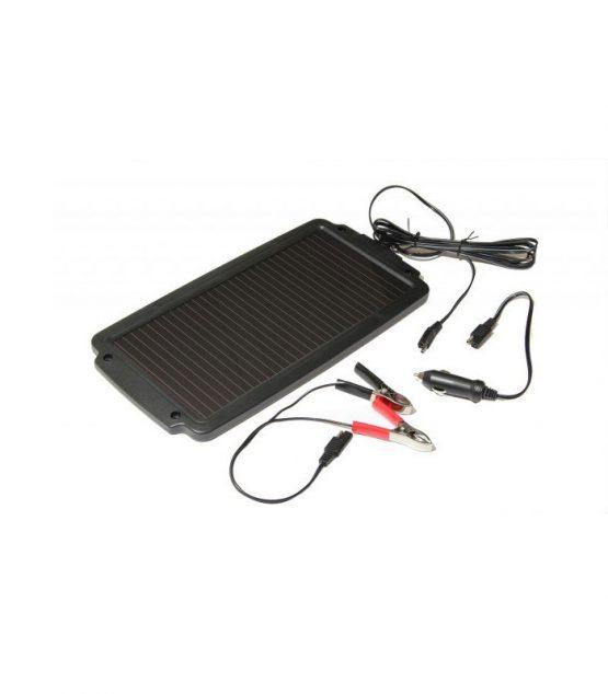 Solárna dobíjačka akumulátorov na 12V s výkonom 2,4W pre benzínové motory stredného výkonu..