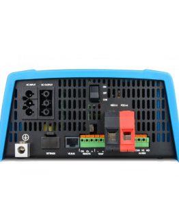 Menič s funkciou UPS z 12V na 230V pohľad na zadný panel.